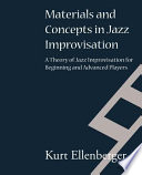 Materials And Concepts In Jazz Improvisation Book PDF