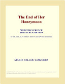 Download The End of Her Honeymoon (Webster's French Thesaurus Edition) Book