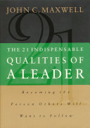 Pdf The 21 Indispensable Qualities of a Leader Telecharger