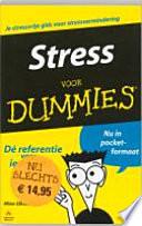 Stress Voor Dummies Pocketeditie
