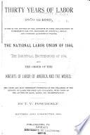 Thirty Years of Labor  1859 1889