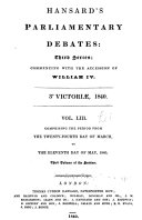 The Parliamentary Debates  Authorized Edition