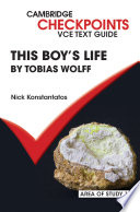 Cambridge Checkpoints VCE Text Guides: This Boy's Life by Tobias Wolff