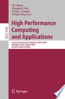 High Performance Computing and Applications