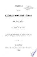 History of the Methodist Episcopal Church in Canada Book