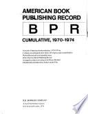 American Book Publishing Record  : BPR cumulative , Volume 3
