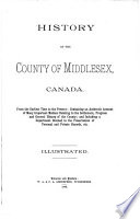 History of the County of Middlesex, Canada