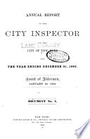 Annual report of the City Inspector of the City of New York for the year ending ... 1862