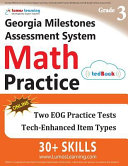 Georgia Milestones Assessment System Test Prep: 3rd Grade Math Practice Workbook and Full-length Online Assessments