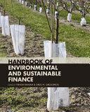 Handbook of Environmental and Sustainable Finance