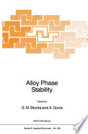 Alloy Phase Stability Book