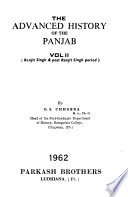 The Advanced Study in History of the Punjab: Ranjit Singh & post Ranjit Singh period