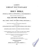 Calmet S Great Dictionary Of The Holy Bible
