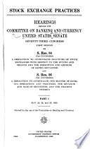 Hearings, May 23-25, 1933