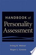 Handbook of Personality Assessment Book