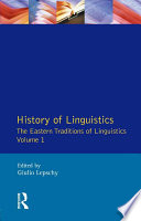 Read Online History of Linguistics Volume I For Free