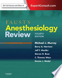 Faust S Anesthesiology Review E Book Book PDF