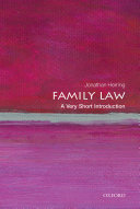 Family Law  A Very Short Introduction