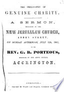 The Philosophy of Genuine Charity  A Sermon  Preached in the New Jerusalem Church  Abbey Street  on Sunday Afternoon  July 12th  1862 Book