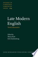 Late Modern English