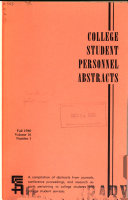 College Student Personnel Abstracts