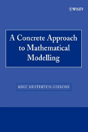 A Concrete Approach To Mathematical Modelling Book PDF