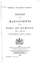 Report on the Manuscripts of the Earl of Egmont