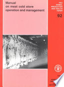 Manual on Meat Cold Store Operation and Management