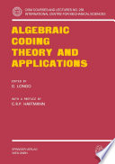 Algebraic Coding Theory and Applications