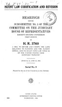 Patent Law Codification and Revision