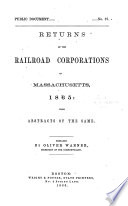 Returns of the Railroad Corporations in Massachusetts     with Abstracts of the Same