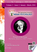 The International Journal Of Indian Psychology Volume 3 Issue 2 No 7