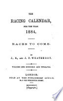 The Racing Calendar For The Year 1884