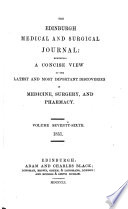 The Edinburgh Medical And Surgical Journal Book PDF