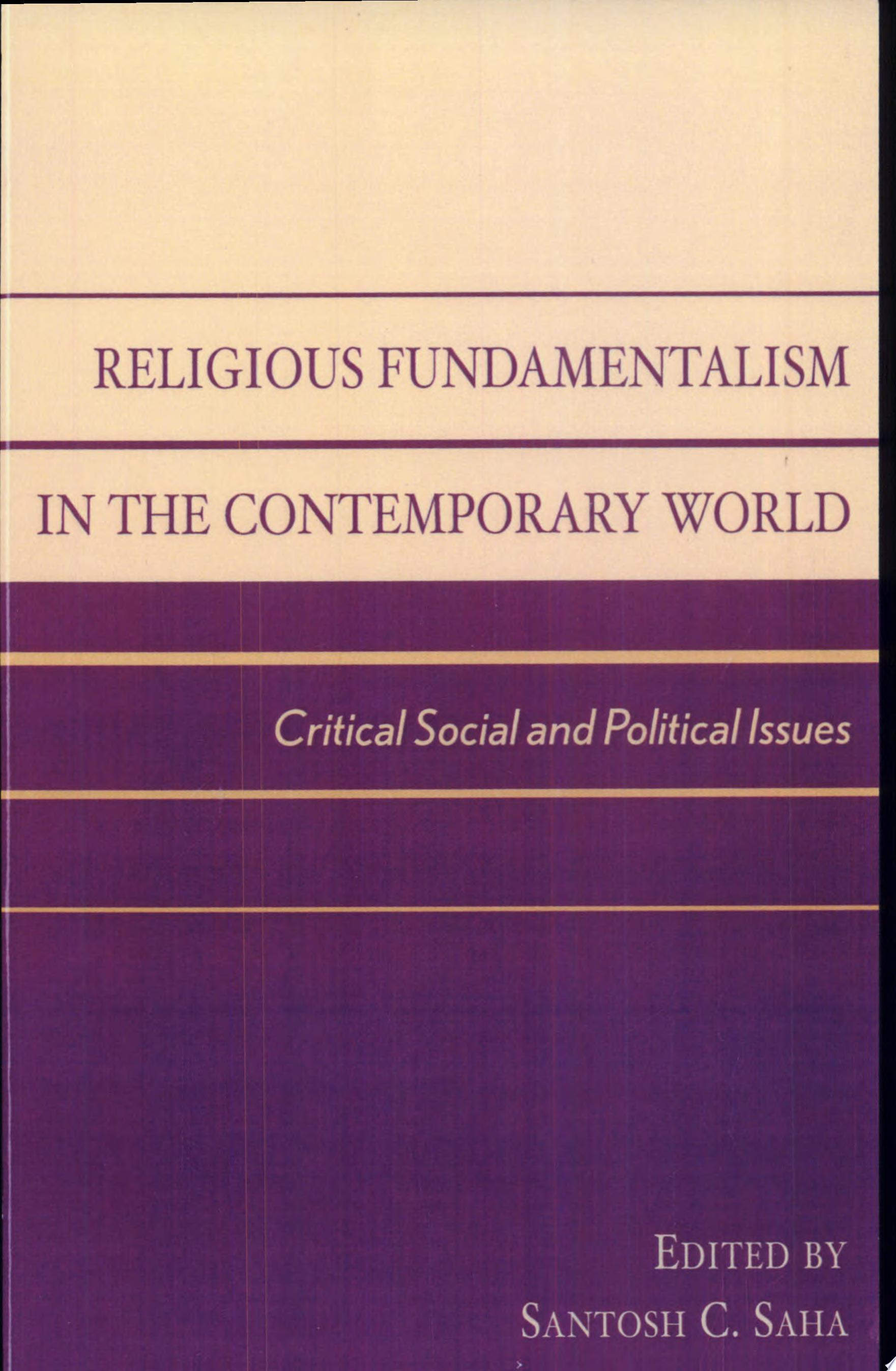 Religious Fundamentalism in the Contemporary World