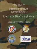 History of Operations Research in the United States Army