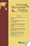Asia Pacific Development Journal Vol 24 No 1 June 2017