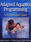 Adapted Aquatics Programming 2nd Edition