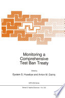 Monitoring A Comprehensive Test Ban Treaty Book PDF