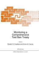 Pdf Monitoring a Comprehensive Test Ban Treaty Telecharger