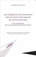 Pdf Les obligations de prévention dans le droit international de l'environnement Telecharger
