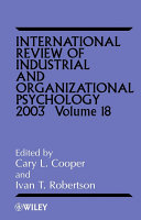 International Review of Industrial and Organizational Psychology, 2003
