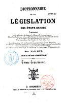 Dictionnaire de la législation des états sardes...