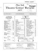 New York Theatre Critics  Reviews Book