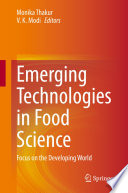 Emerging Technologies In Food Science Book PDF