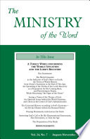 The Ministry Of The Word Vol 24 No 7