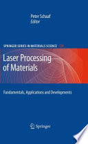 Laser Processing of Materials Book