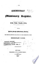 The American Missionary Register