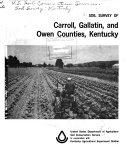 Soil Survey of Carroll  Gallatin  and Owen Counties  Kentucky