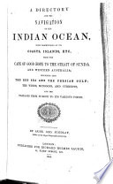 A Directory for the Navigation of the Indian Ocean